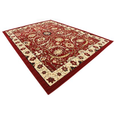 Antoinette Red Area Rug Rug Size: 9' x 12'