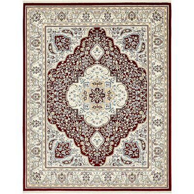 Anita Burgundy Area Rug Rug Size: Rectangle 8 x 10