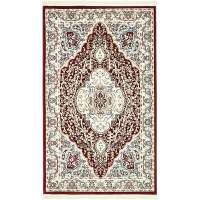 Anita Burgundy Area Rug Rug Size: Rectangle 3 x 5