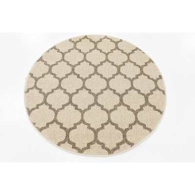 Moore Beige & Tan Area Rug Rug Size: Square 6
