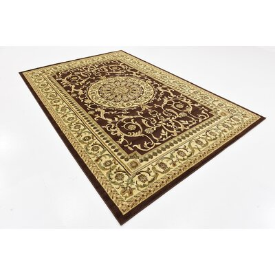 Oskar Brown Area Rug Rug Size: Rectangle 6 x 9