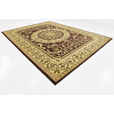 Patton Brown Area Rug Rug Size: 10 x 13