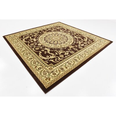 Patton Brown Area Rug Rug Size: Square 8