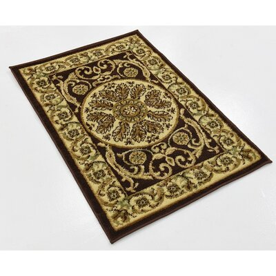 Patton Brown Area Rug Rug Size: 2 x 3