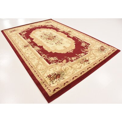 Patton Red Area Rug Rug Size: 6 x 9