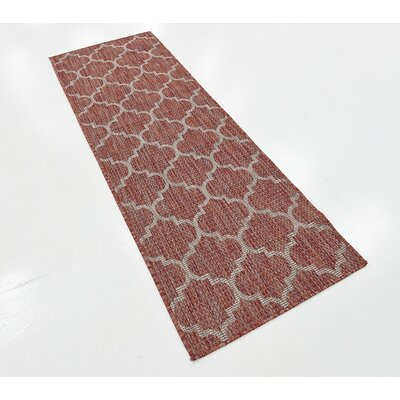 Tandridge Rust Outdoor Red Area Rug Rug Size: Rectangle 6 x 2