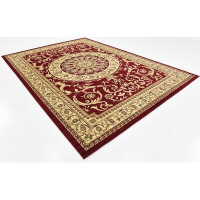 Oskar Red Area Rug Rug Size: Rectangle 8 x 114