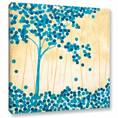 Turquoise Forest II Painting Print on Wrapped Canvas Size: 10