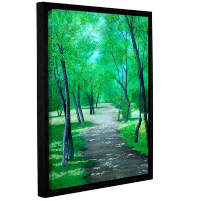 Asheville Park Framed Painting Print on Wrapped Canvas