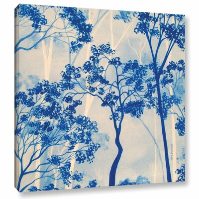 Azul Forest 2 Framed Painting Print on Wrapped Canvas Size: 10