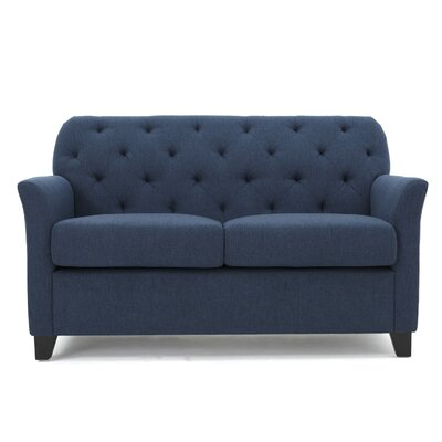 Augustus Monrovia Loveseat Upholstery: Dark Blue