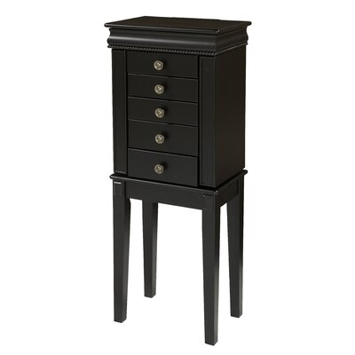 Avella Free Standing Jewelry Armoire with Mirror