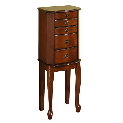 Avocet Free Standing Jewelry Armoire with Mirror