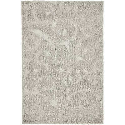 Avondale Floral Gray Area Rug Rug Size: Rectangle 4 x 6