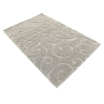 Avondale Floral Gray Area Rug Rug Size: Rectangle 9 x 12