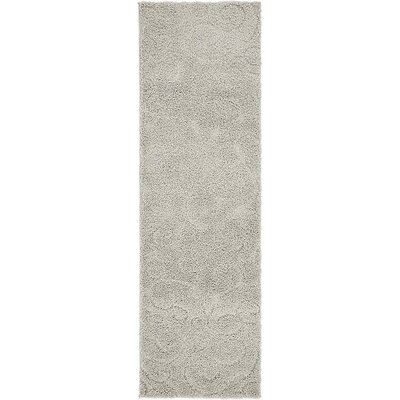 Avondale Floral Gray Area Rug Rug Size: Runner 2 x 67