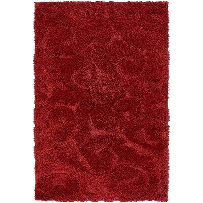 Baynes Floral Red Area Rug Rug Size: 9 x 12