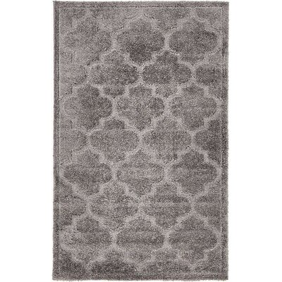 Moore Dark Gray Area Rug Rug Size: Rectangle 5 x 8