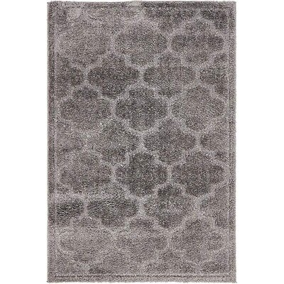 Moore Dark Gray Area Rug Rug Size: Rectangle 4 x 6