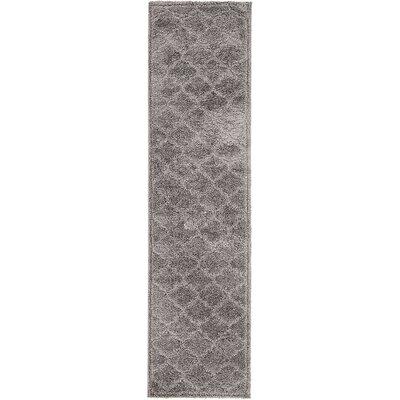 Moore Dark Gray Area Rug Rug Size: Runner 27 x 10