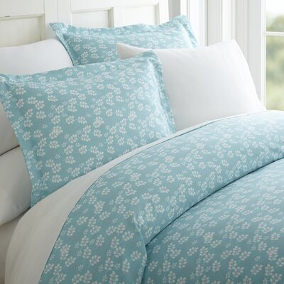 Perley 3 Piece Duvet Cover Set Color: Pale Blue, Size: Twin