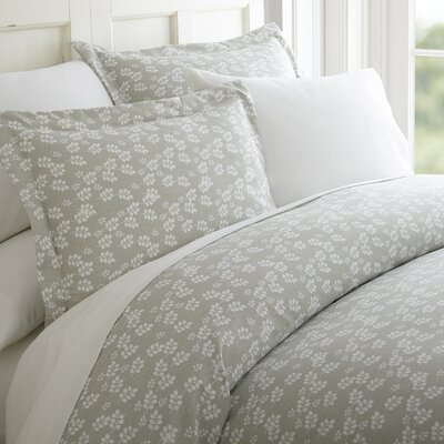 Perley 3 Piece Duvet Cover Set Color: Gray, Size: Queen