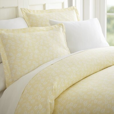 Perley 3 Piece Duvet Cover Set Color: Ivory, Size: Queen