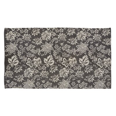 Messina Charcoal Area Rug Rug Size: 4 x 6