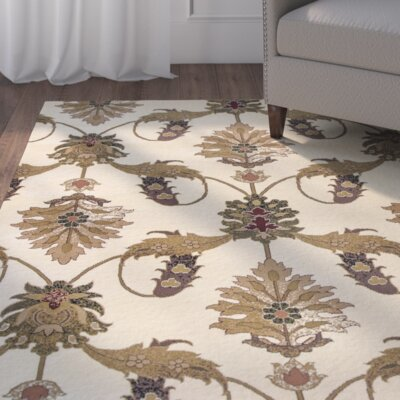 Greenfield Ivory Area Rug Rug Size: Rectangle 53 x 77