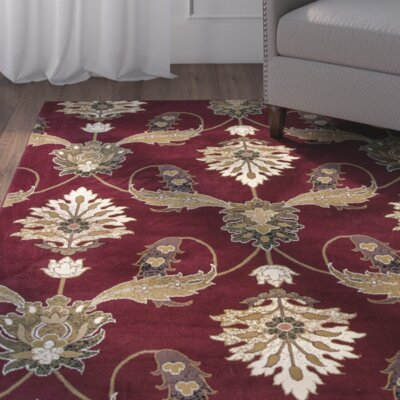 Greenfield Red Area Rug Rug Size: 33 x 411