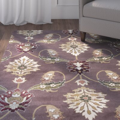 Greenfield Plum Area Rug Rug Size: 910 x 132