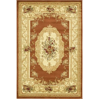 Oskar Brick Red Area Rug Rug Size: 4 x 6