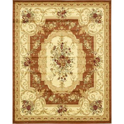 Oskar Brick Red Area Rug Rug Size: 10 x 13