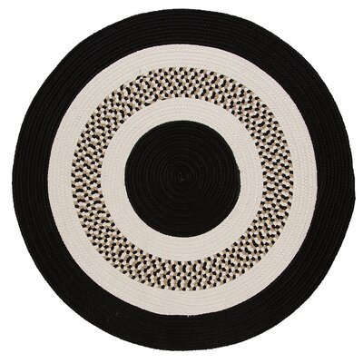 Germain Black/Beige Area Rug Rug Size: Round 12