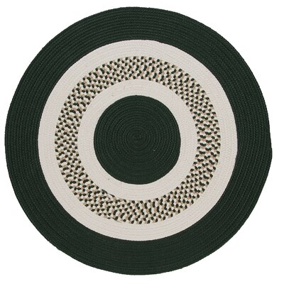 Germain Dark Green/Beige Area Rug Rug Size: Round 4'