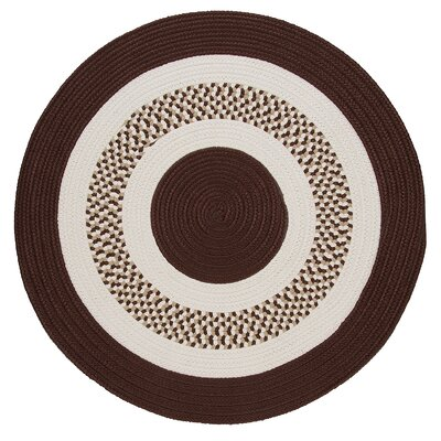 Germain Brown/Beige Area Rug Rug Size: Round 4