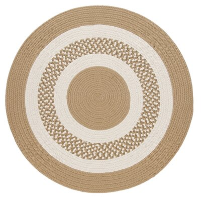 Germain Cuban Sand/Beige Area Rug Rug Size: Round 10