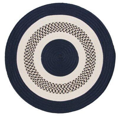 Germain Navy/Beige Area Rug Rug Size: Round 4