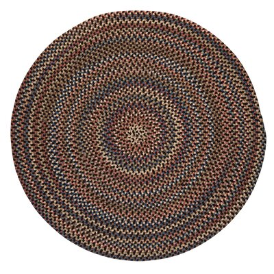 Kipton Dark Brown Area Rug Rug Size: Round 10