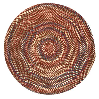 Gaylord Rust Area Rug Rug Size: Round 8