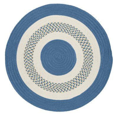 Germain Blue/Beige Indoor/Outdoor Area Rug Rug Size: Round 4