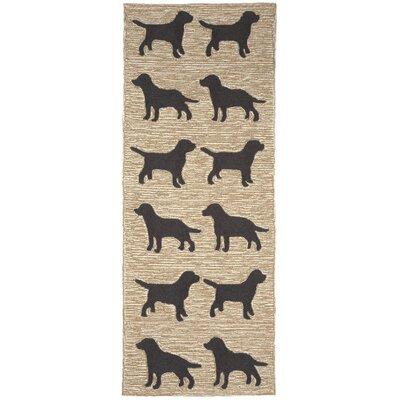Allgood Doggies Natural Indoor/Outdoor Area Rug Rug Size: 36 x 56