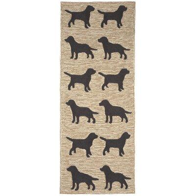 Allgood Doggies Natural Indoor/Outdoor Area Rug Rug Size: 2 x 3