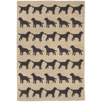 Allgood Doggies Natural Indoor/Outdoor Area Rug Rug Size: 5 x 76