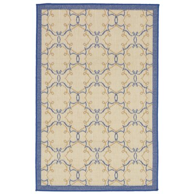 Brasstown Delicate Scroll Beige Indoor/Outdoor Area Rug Rug Size: 33 x 411