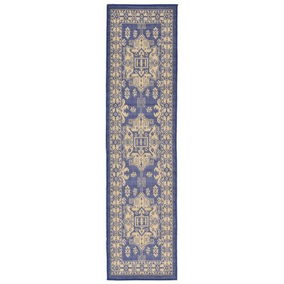 Brasstown Blue Indoor/Outdoor Area Rug Rug Size: Runner 111 x 76