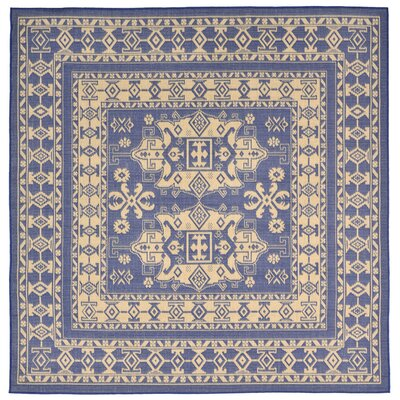 Brasstown Blue Indoor/Outdoor Area Rug Rug Size: Square 710