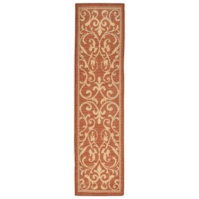 Brasstown Rust Indoor/Outdoor Area Rug Rug Size: Runner 111 x 76