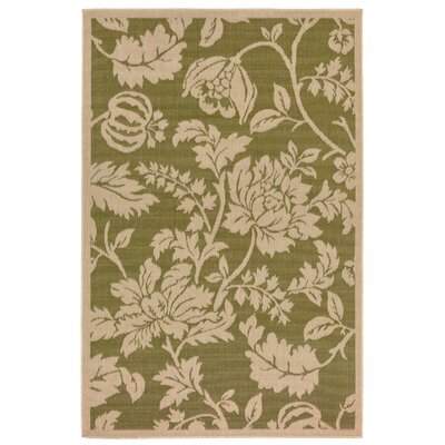 Brasstown Green Indoor/Outdoor Area Rug Rug Size: 111 x 211