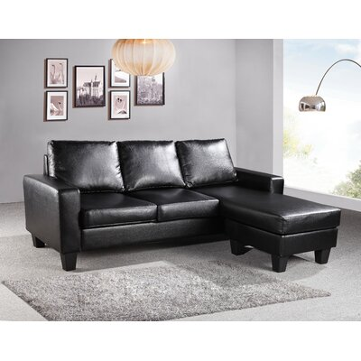 Bratton Sectional Upholstery: Black
